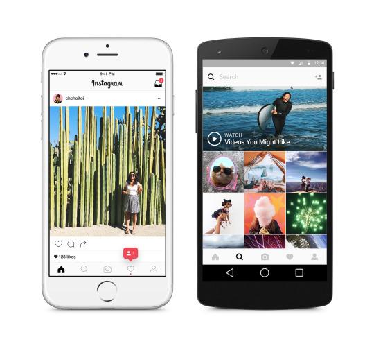 Nowy interfejs Instagrama