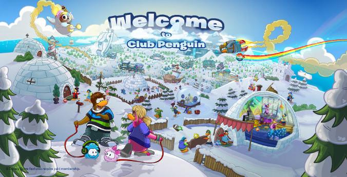 Club Penguin - Powitanie