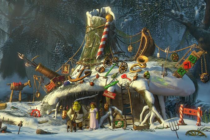 Świąteczne animacje: Pada Shrek